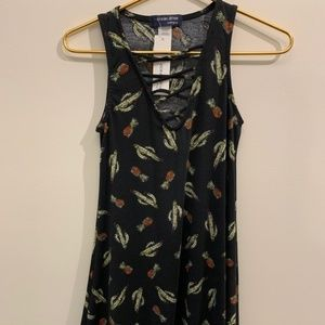 Pineapple and Cactus Dress